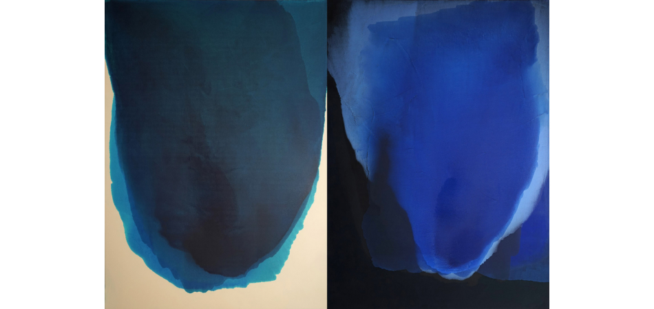 Prussia, Cobalt and Real (Diptych)