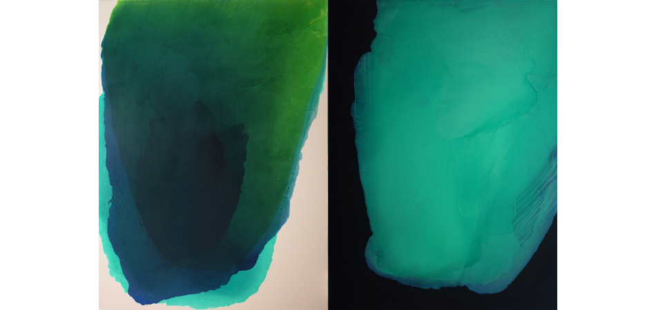Prussia, Emerald and Compound (Diptych)